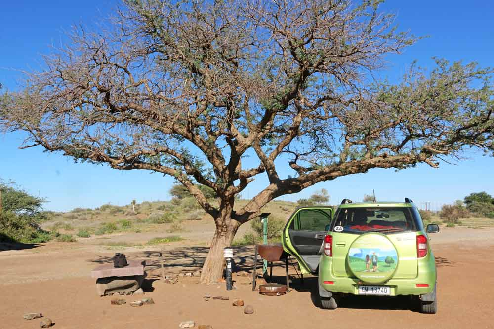 Our camping spot at Quivertree Campsite in Namibia
