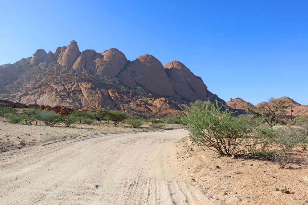 Spitzkoppe mountains, a great place for camping in Namibia