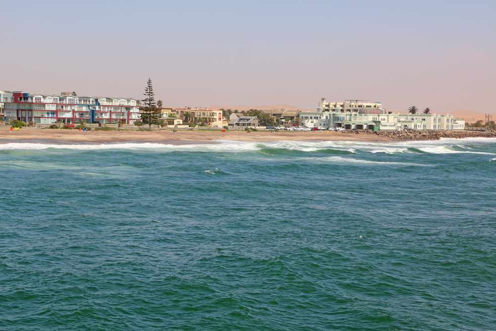 Swakopmund beachfront from the sea