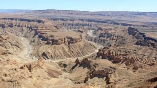 Fish River Canyon from the lookout point at the start of the hike