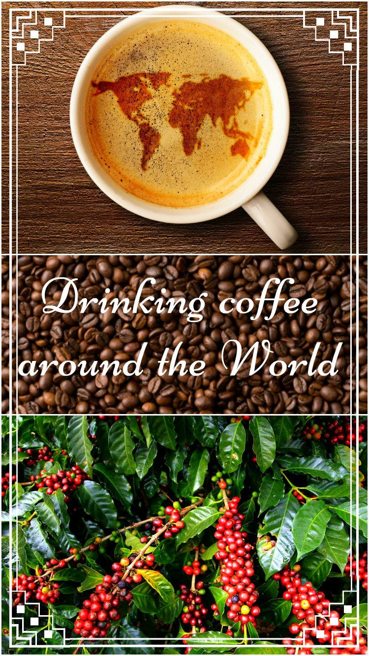 Pin drinking coffee