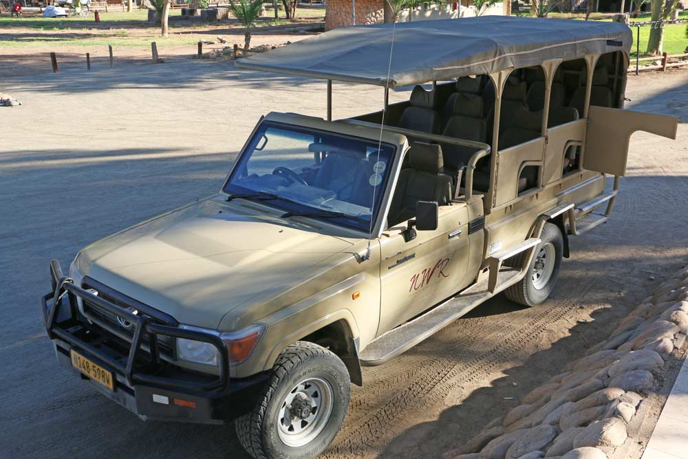 A shuttle jeep from Ai Ais to the start of the Fish River Canyon hike