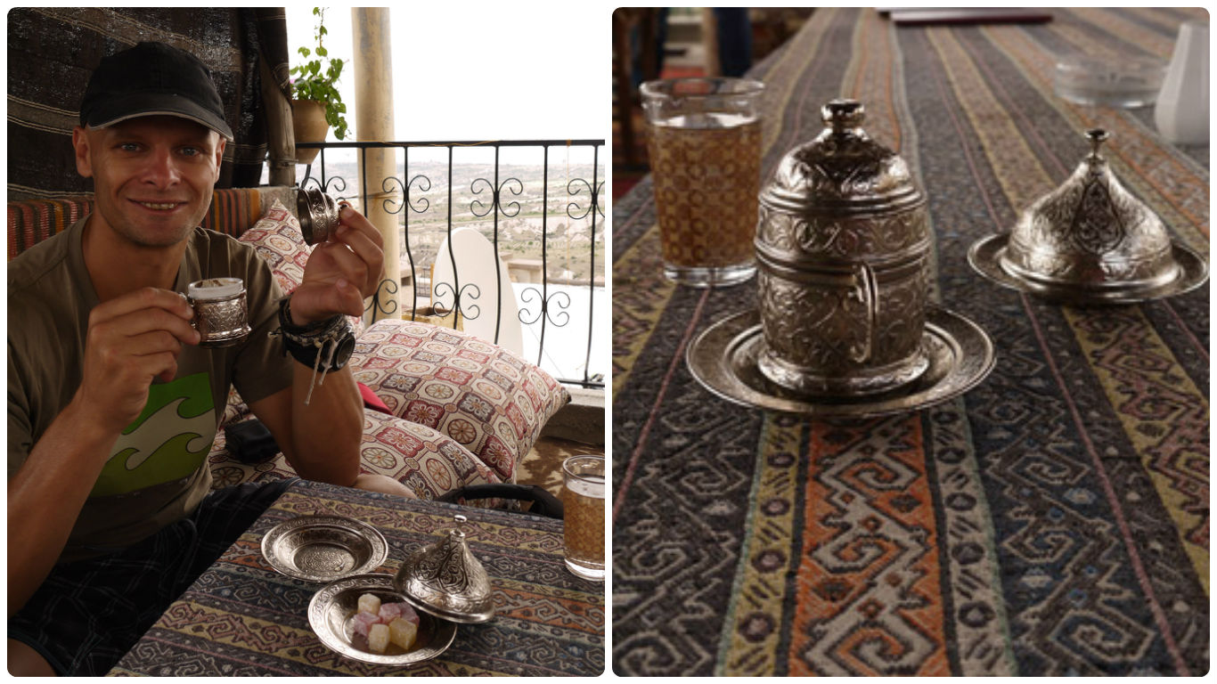"""""""black as hell, strong as death, and as sweet as love"""" I loved the fancy little cups and sweets served with Turkish coffee! Coffee around the world."""