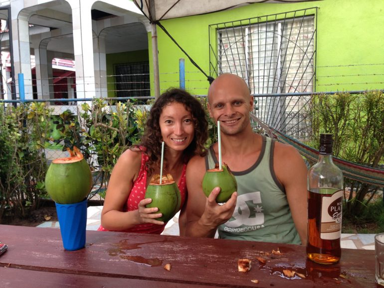Stingy Nomads, rum and coconut milk, Little Corn, Nicaragua