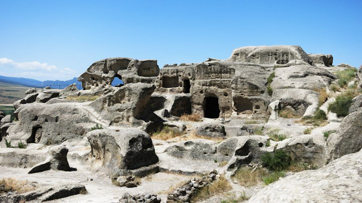 The beautiful ancient cave village Uplitsike. Georgia Backpacking Guide