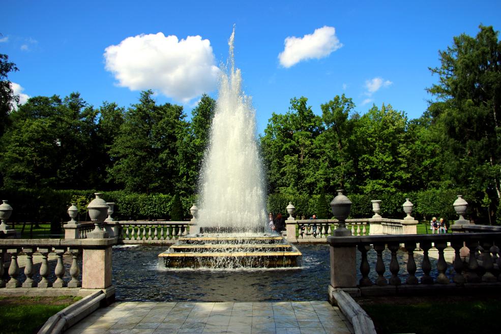 The Pyramid fountain, Peterhof
