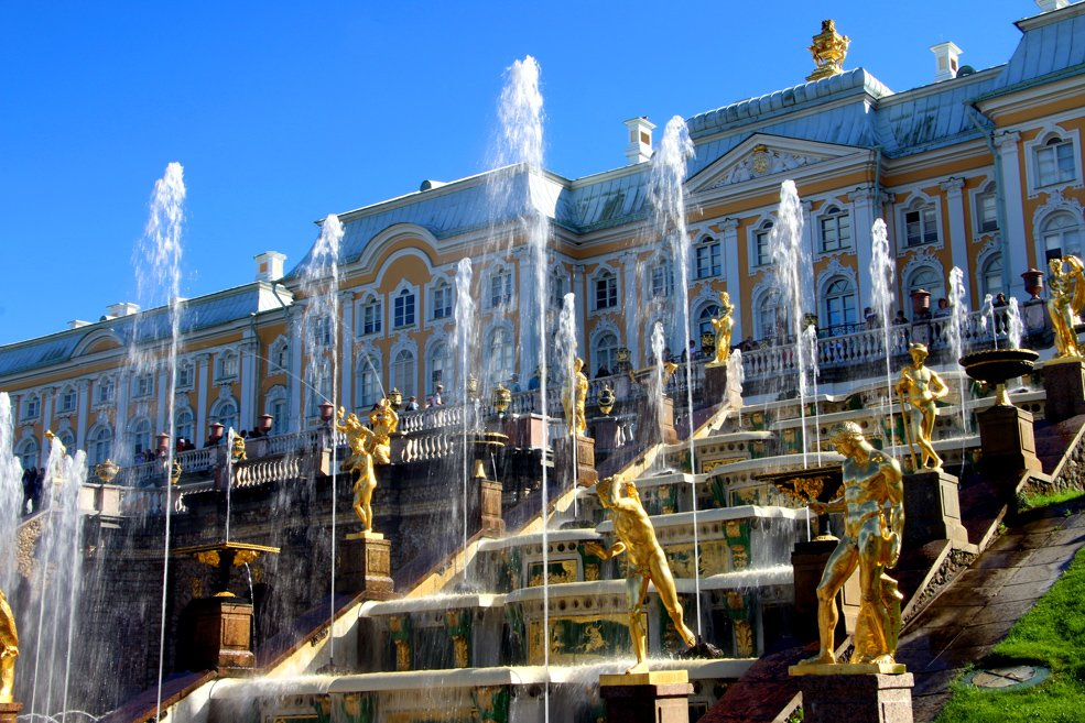 The Grand cascade, Peterhof. St.Petersburg palaces and parks.