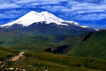 Mt.Elbrus, Russia. The highest mountain in Europe