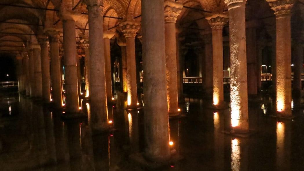 The impressive Basilica Cistern.