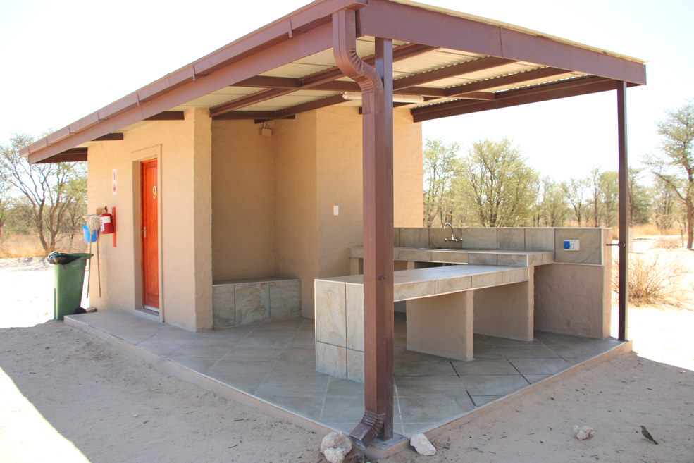 Premium campsite at Nossob, Kgalagadi National park