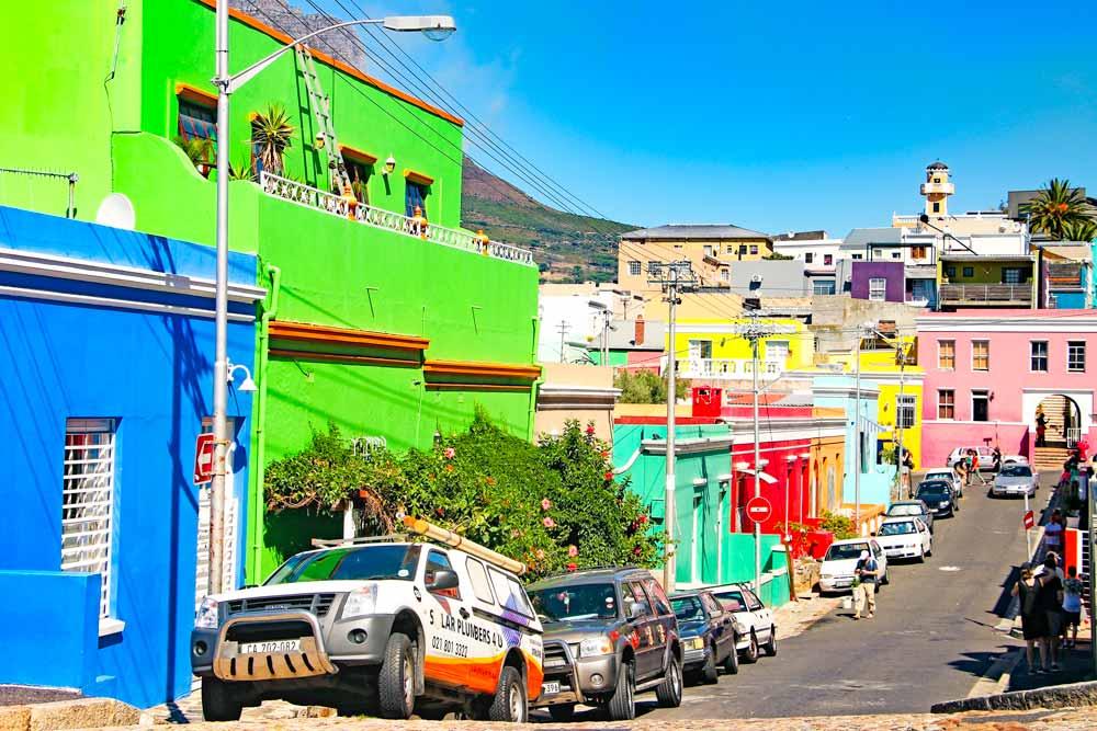 Colorful Bo Kaap neighborhood, Cape Town