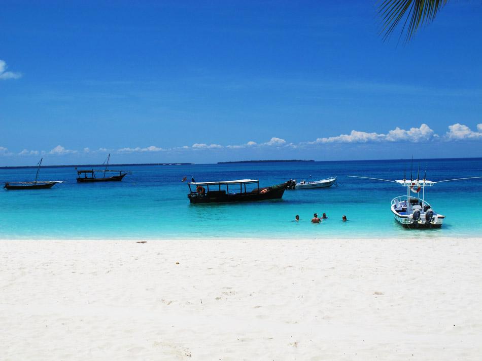 The beautiful beaches of Kendwa on Zanzibar.
