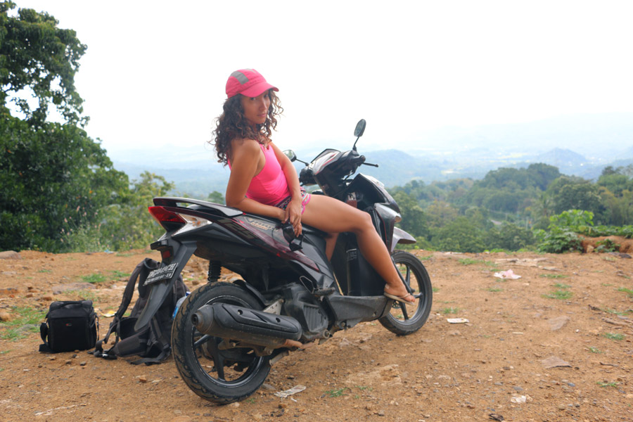 Exploring Flores island by motorbike