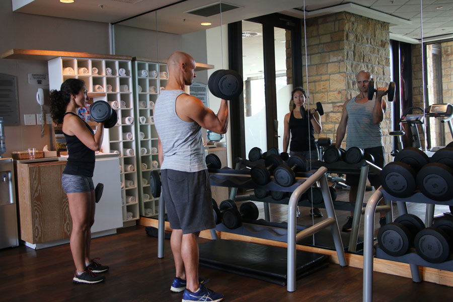 Arabella hotel fitness center stingy nomads