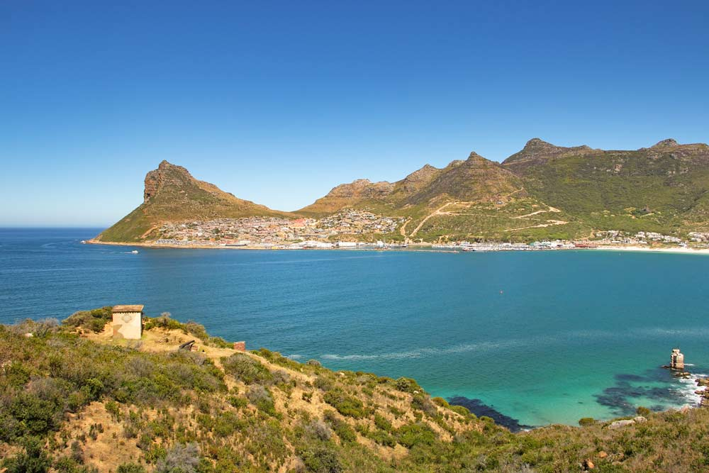 Breathtaking view of Hout Bay from Chapman's Peak Drive