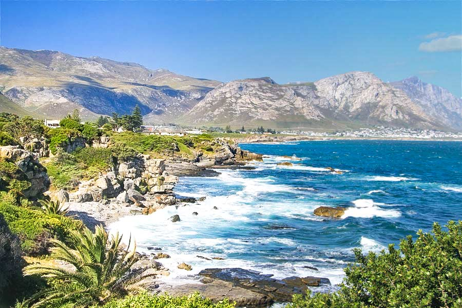 A breathtaking view of the coast of Hermanus