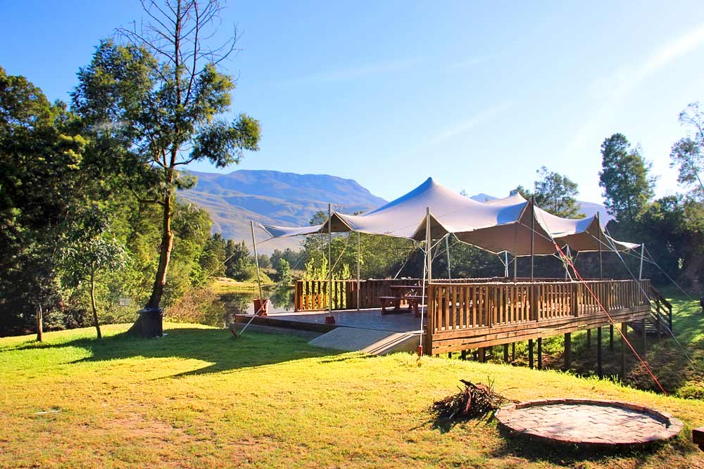 Beautiful scenery at Khomeesdrif camp, one of the best spots for a camping getaway in Cape Town
