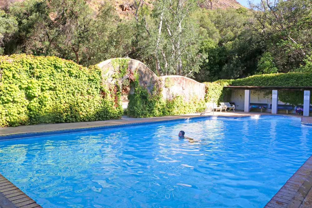 An outdoor thermal pool in the baths, a hidden paradise near Citrusdal, a great place for a romantic getaway
