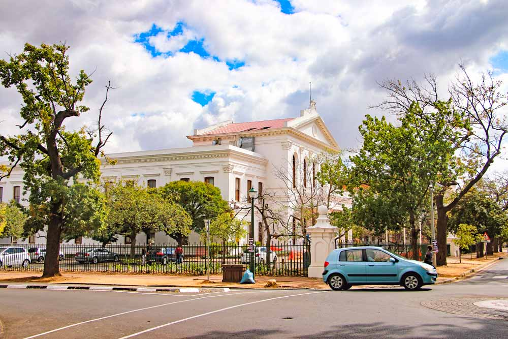 The historical center of Stellenbosch, South Africa