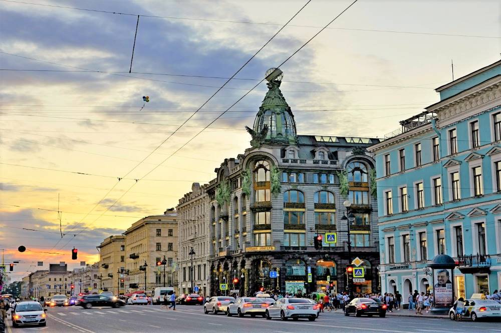 Nevsky Prospect a must walk street of St.Petersburg