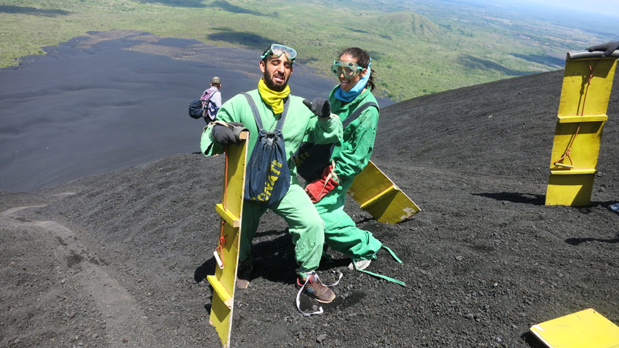 Volcano boarding Leon Nicaragua Stingy Nomads