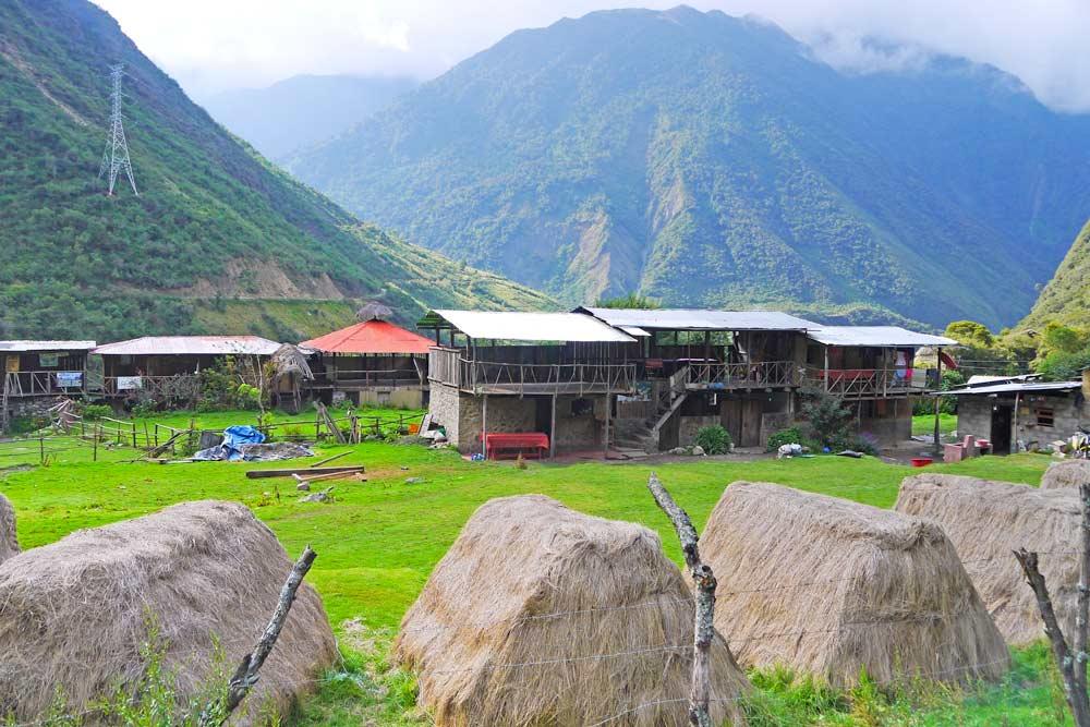 Chaullay village a popular stop on Salkantay