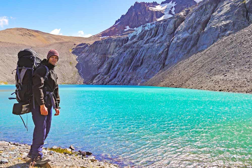 Campbell at Laguna Cerro Castillo, Patagonia