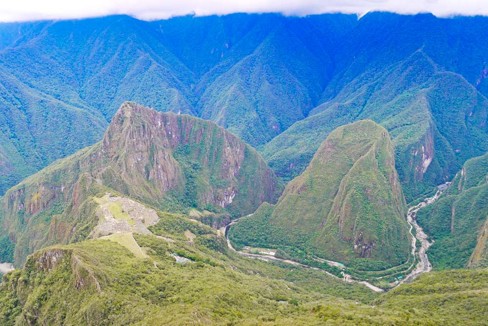 A breathtaking view of the ruins and the area from the Machu Picchu Mountain