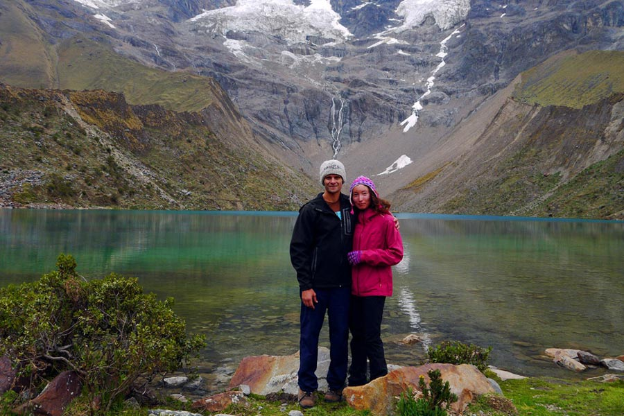 Humantay Lake on the Salkantay trek in Peru.