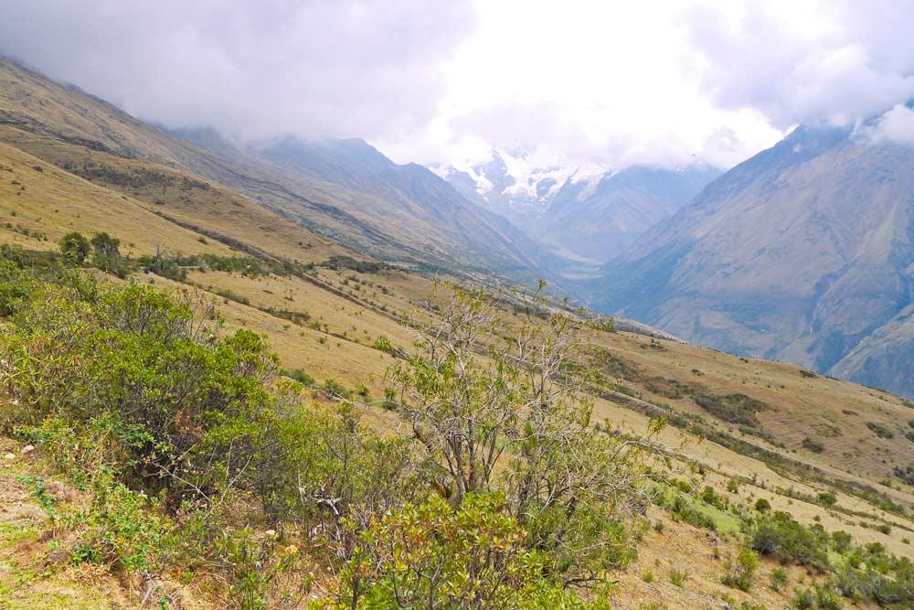 A peaceful scenery on the Salkantay trek in Peru