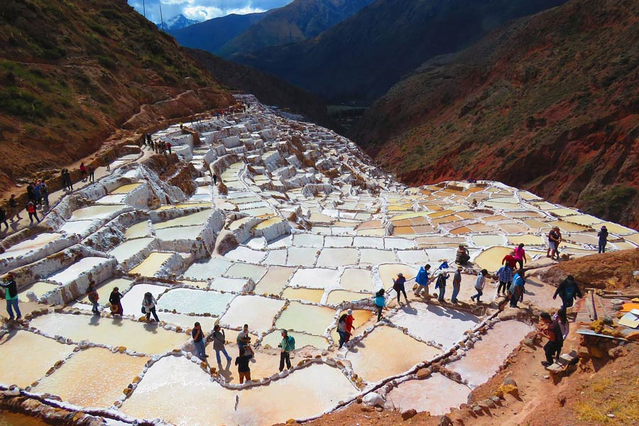 The Salt Pans of Maras Peru Hike
