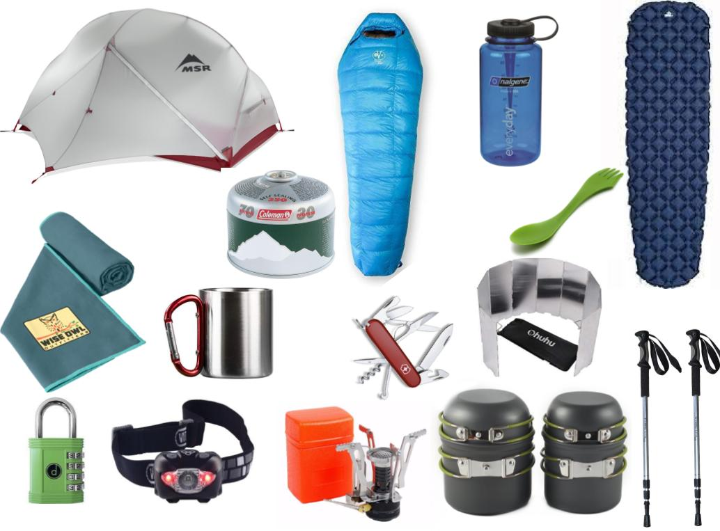 Camping gear from Patagonia packing list