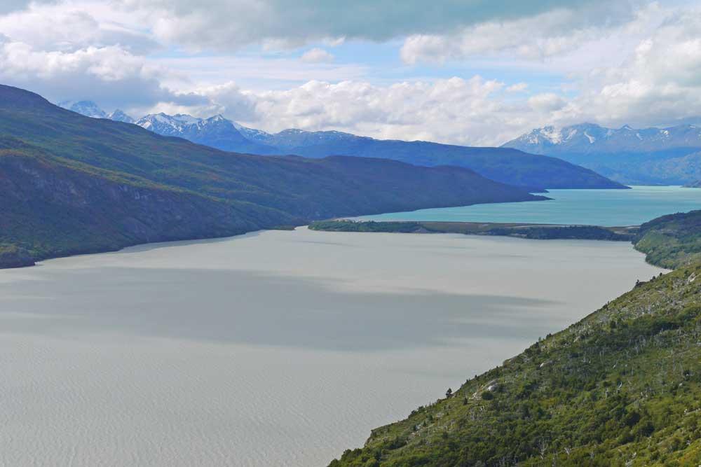 O'Higgins and El Chico lakes, O'Higgins Glacier hike