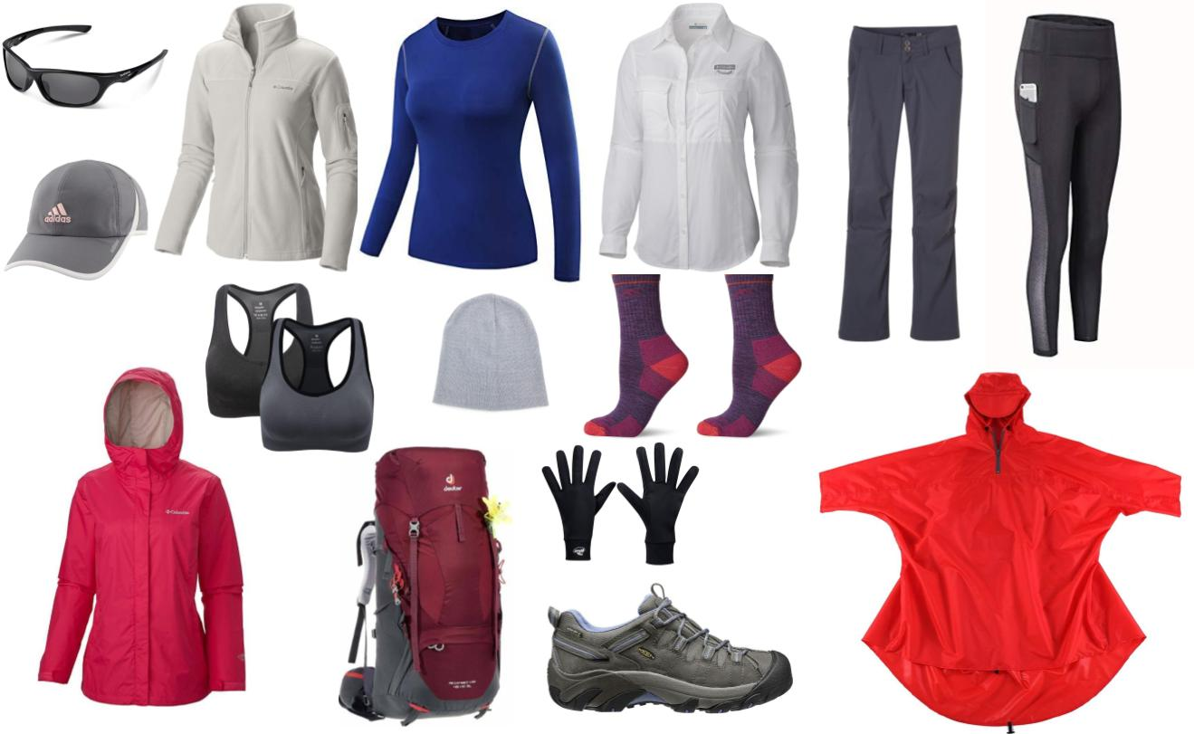 Clothes for women for hiking in Patagonia
