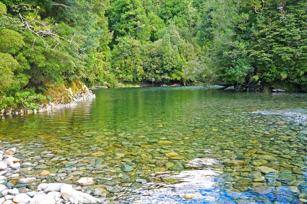A river at Caleta Gonzalo, Pumalin park