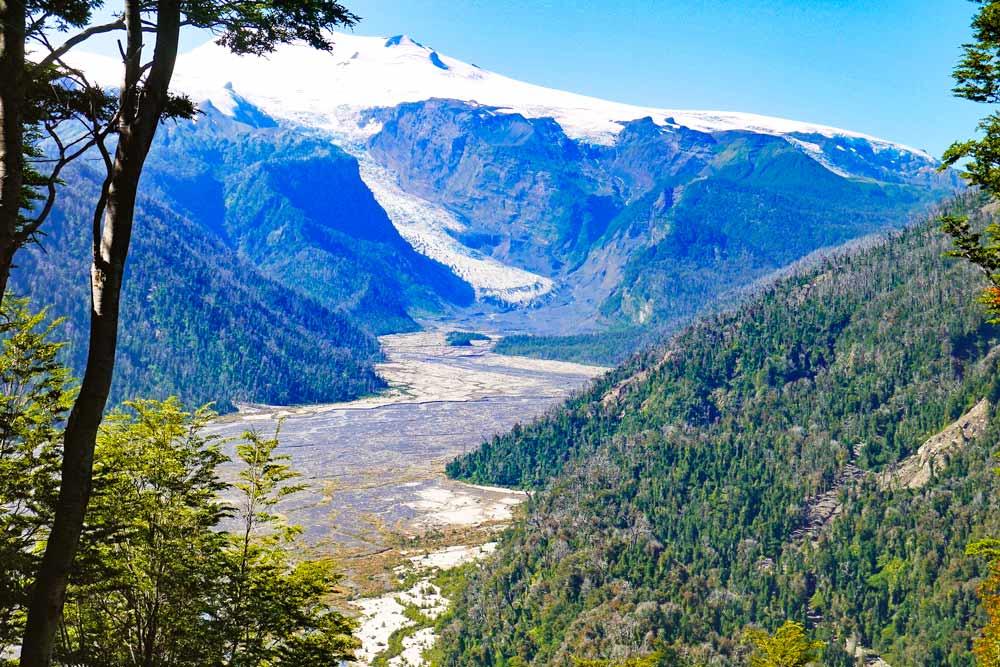 Amarillo Glacier from the viewpoint, Pumalin park
