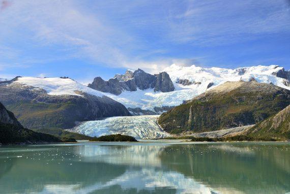 Hanging glacier, Patagonia, Chile