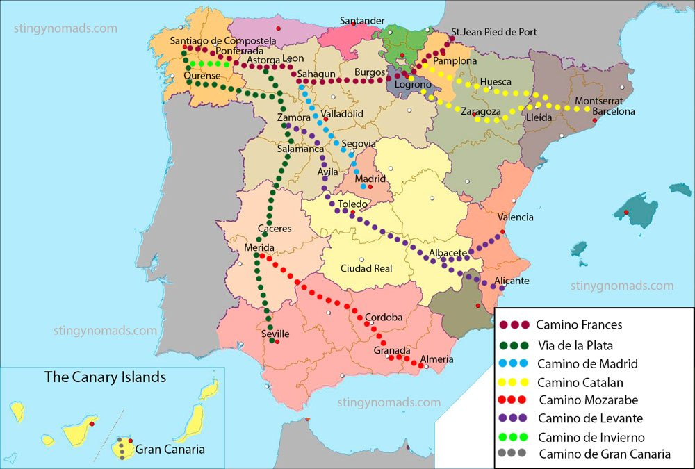 Camino de Santiago lesser-known routes