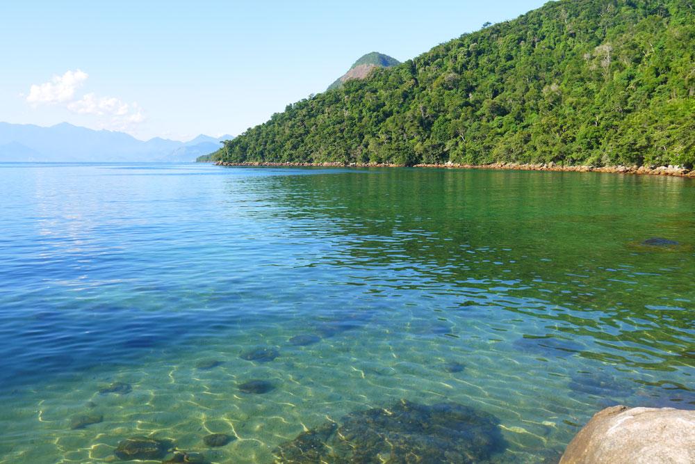 Lagoa Verde, hiking on Ilha Grande
