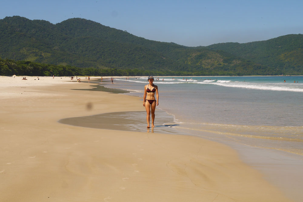 Famous Lopes Mendes beach, Ilha Grande