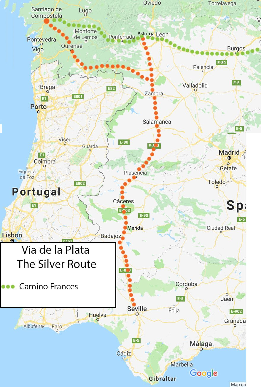 Many routes of the Camino de Santiago - choose the right one ... on france country map, home map, france natural resources map, gibraltar map, pilgrimage map, food of france regions map, paris france landforms map, burgos map, pyrenees map, hospital map, ponferrada map, france airports map, west france map, spain map, samos map, santiago de compostela map, spanish-speaking country map,