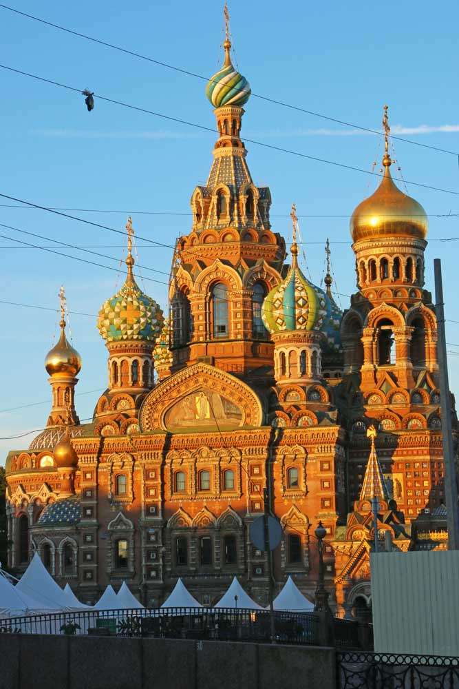 The beautiful and colorful Church of the Savior on Spilled Blood in St.Petersburg