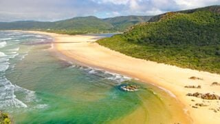Breathtaking view of Nature's Valley from the lookout along the Garden Route