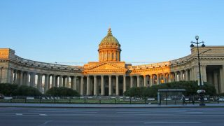 Kazan Cathedral in Nevsky Avenue in Saint Petersburg
