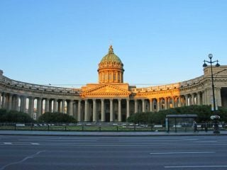 Kazan Cathedral in Nevsky Avenue in Saint Petersburg