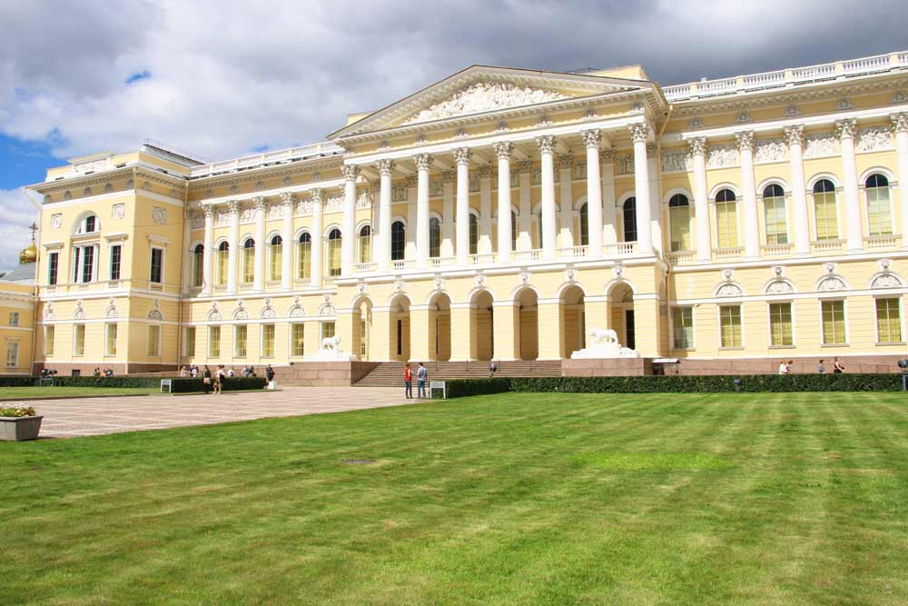 The main entrance to the Russian Museum in St.Petersburg
