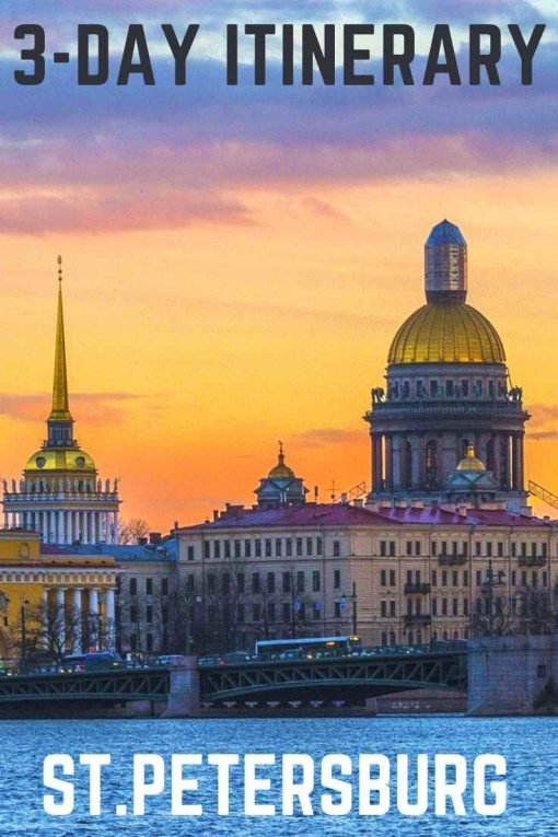3-day itinerary St.Petersburg, Russia pin
