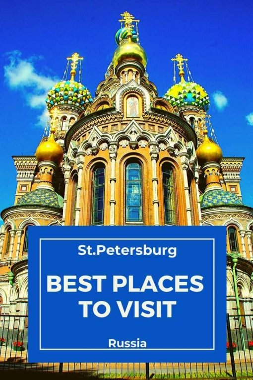 Best places to visit in St.Petersburg, Russia pin