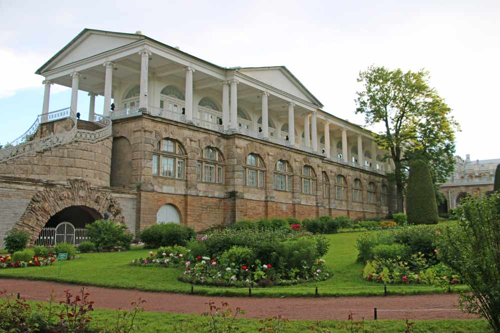 The Cameron Gallery in the Catherine Park of Saint Petersburg