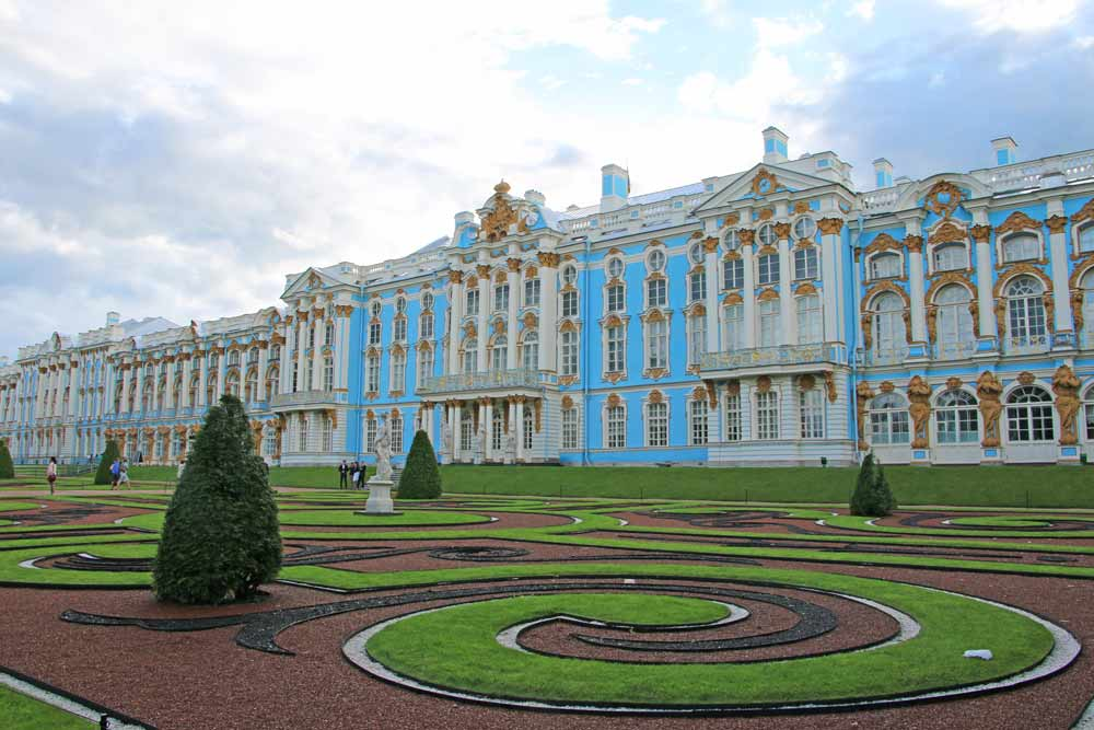 The façade of the Catherine Palace in Saint Petersburg